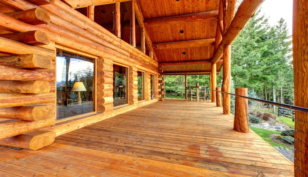 front porch of a secluded Pigeon Forge cabin