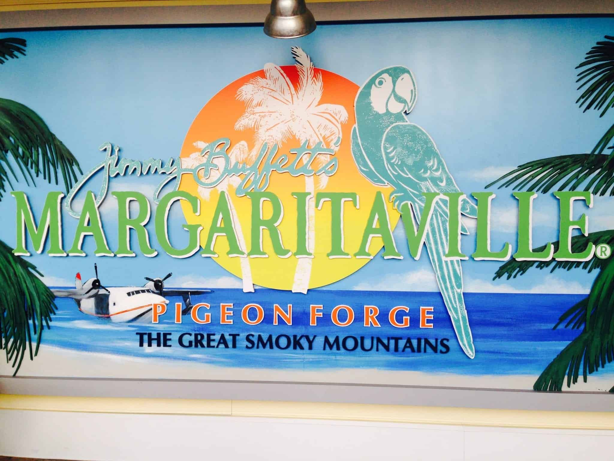Margaritaville restaurant sign in Pigeon Forge