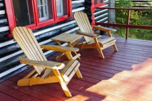 rocking chair outside large cabin rentals in Pigeon Forge TN