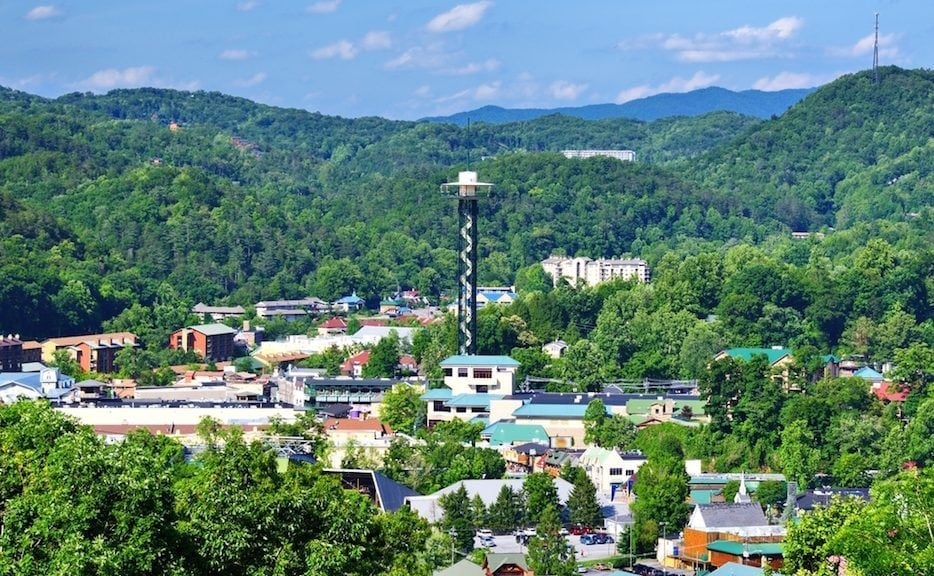 Beautiful Photo Of The Downtown Skyline Taken Near Our Gatlinburg Tennessee  Cabin Rentals.