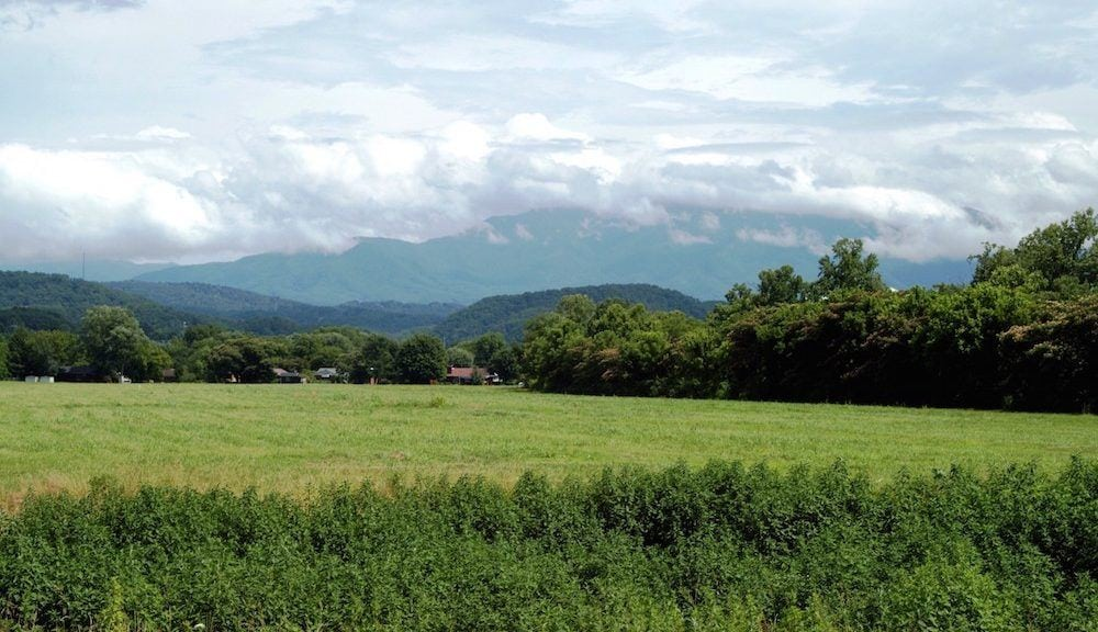 The Smoky Mountains in Pigeon Forge TN.