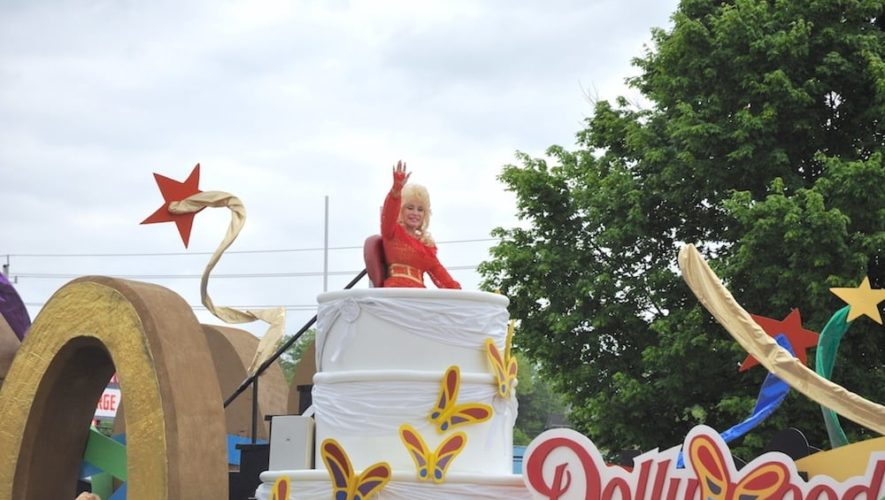 Photo of the Dolly Parton Parade in Pigeon Forge TN.