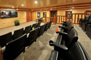 Theater room at Views for Daze cabin in Pigeon Forge TN
