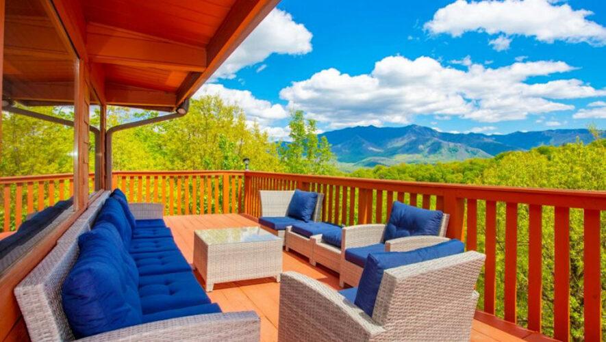gatlinburg cabin with mountain view
